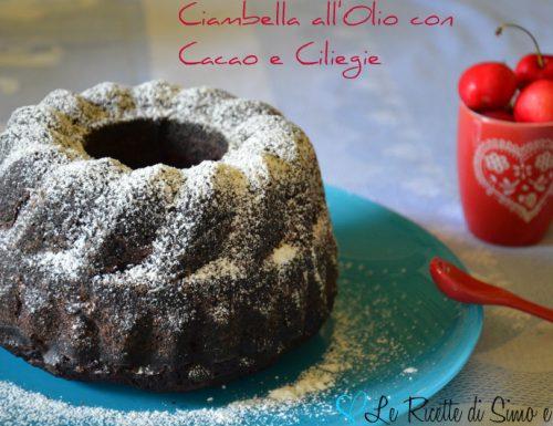 Ciambella all'Olio con Cacao e Ciliegie