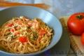 Spaghetti Integrali con Pomodori, Rucola e Fiocchi di Latte
