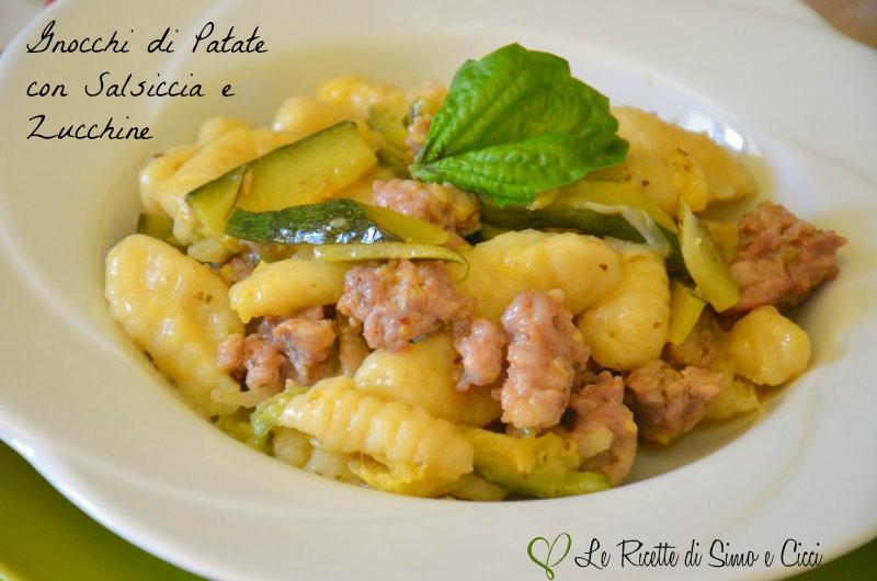 Gnocchi di Patate con Salsiccia e Zucchine