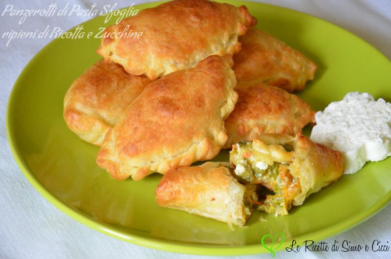 Panzerotti di Pasta Sfoglia ripieni di Ricotta e Zucchine