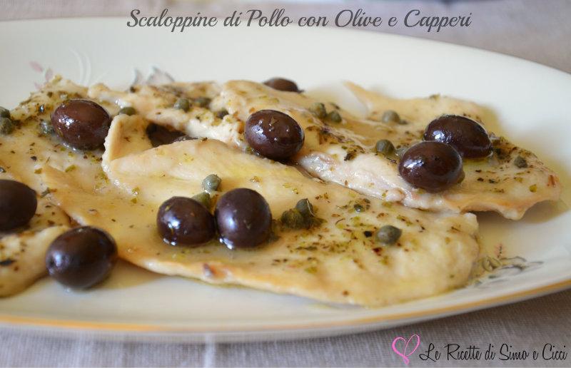 Scaloppine di Pollo con Olive e Capperi