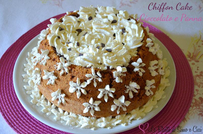 Chiffon Cake Cioccolato e Panna