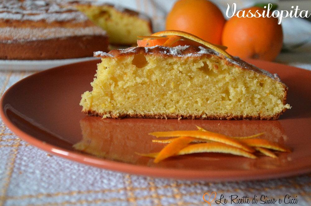 Vassilopita- Torta al Succo d'Arancia senza Latte
