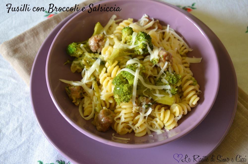 Fusilli con Broccoli e Salsiccia