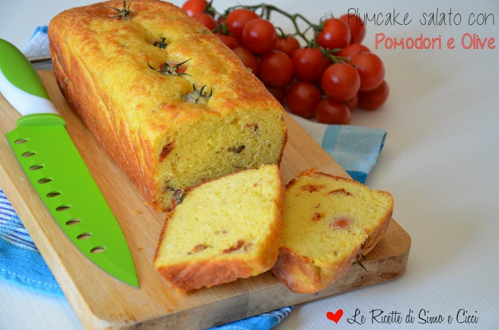 Plumcake salato con Pomodori e Olive