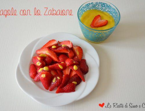 Fragole con lo Zabaione
