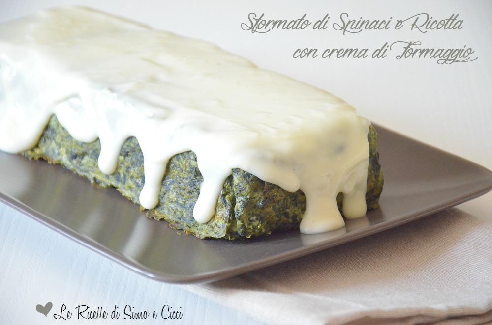 Sformato di Spinaci e Ricotta con crema di Formaggio