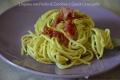 Linguine con Pesto di Zucchine e Speck Croccante