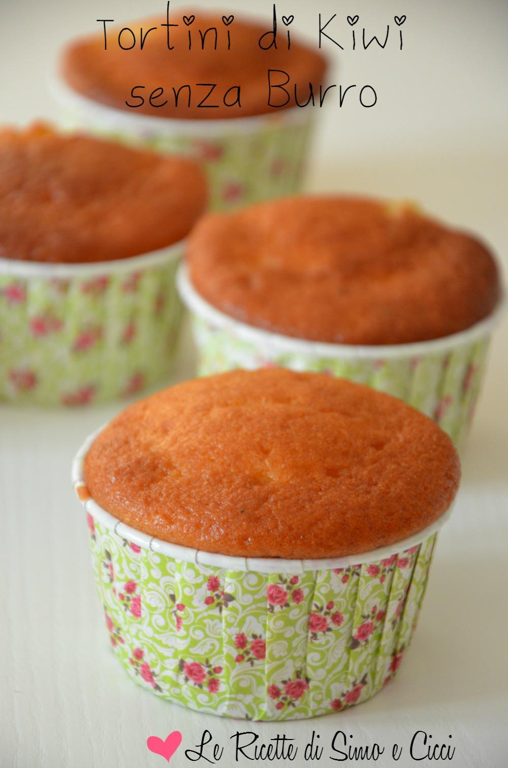 Tortini di Kiwi senza Burro