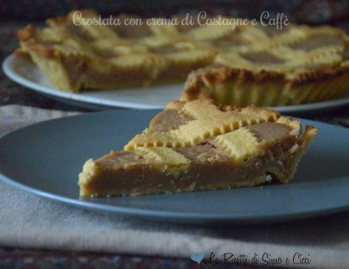 Crostata con crema di Castagne e Caffè