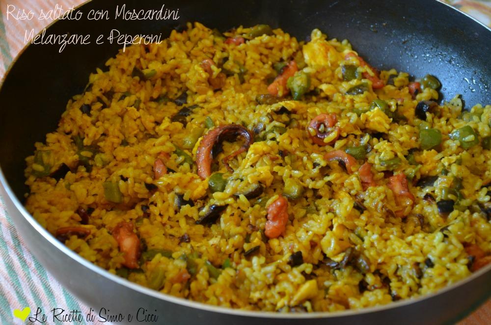 Riso saltato con moscardini melanzane e peperoni for Cucinare moscardini