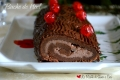 Tronchetto di Natale con Castagne e Cioccolato (Buche de Noel)