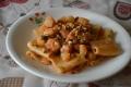 Paccheri con baccalà patate e noci