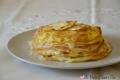 Tortino di frittatine con prosciutto cotto e formaggio