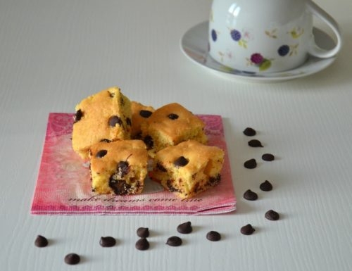 Chocolate chip cookie bars – Barrette con gocce di cioccolato