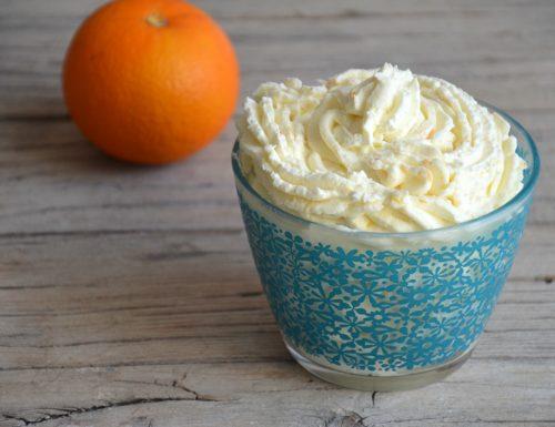 Crema al mascarpone e arancia senza uova