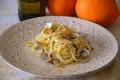 Spaghetti con i lupini al profumo d'arancia