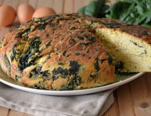 Torta soffice con spinaci e formaggio