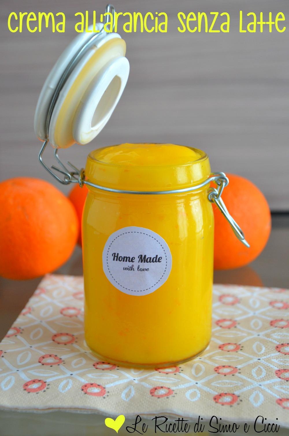 Crema all'arancia senza latte