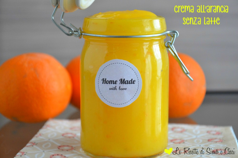 Crema all'arancia Senza Latte