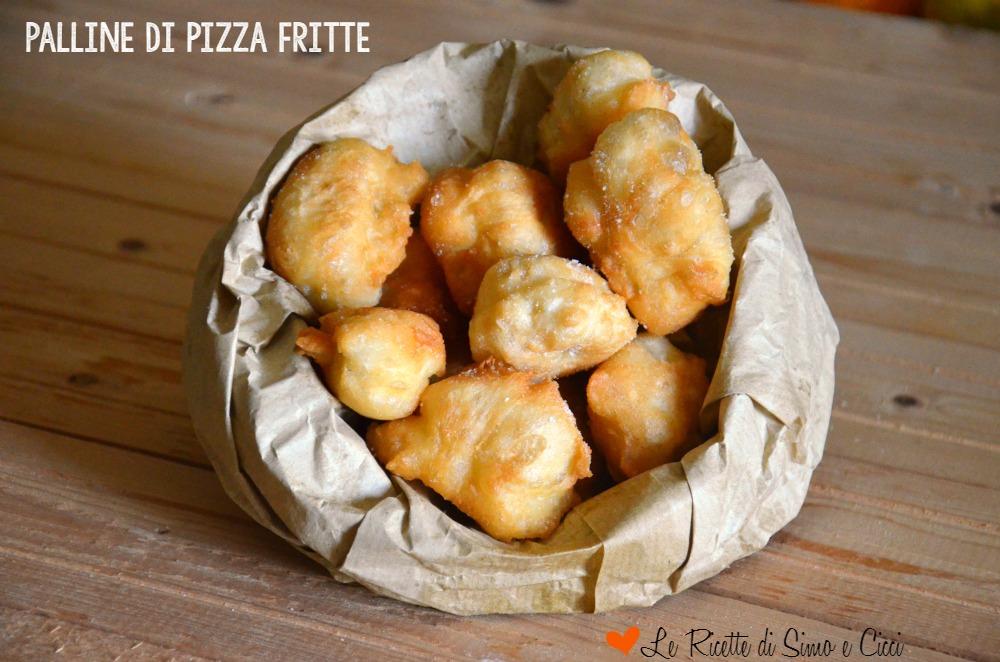 Palline di pizza fritte