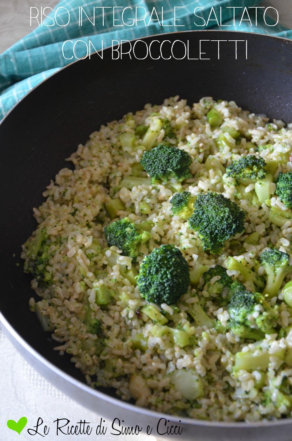 Riso integrale saltato con broccoletti