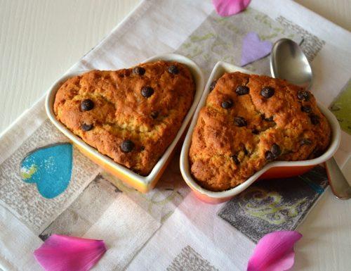 Tortine cookies con zucca e gocce di cioccolato