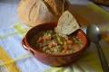 Zuppa di orzo lenticchie e piselli