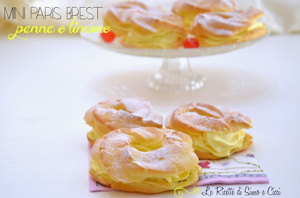 Mini Paris Brest panna e limone