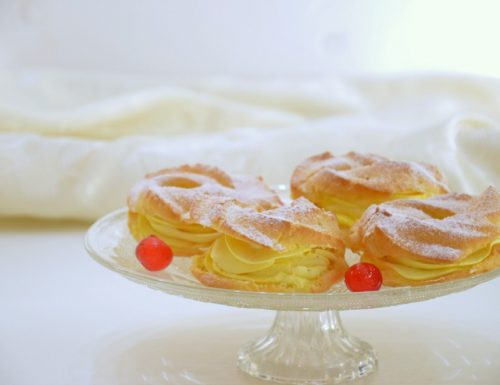 Mini Paris Brest panna e limone