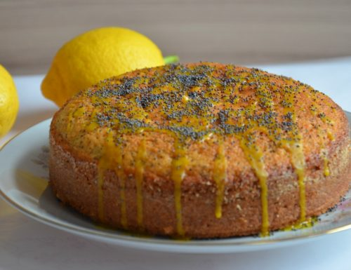 Torta al limone e semi di papavero