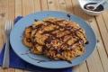 Waffle di zucca alla nutella