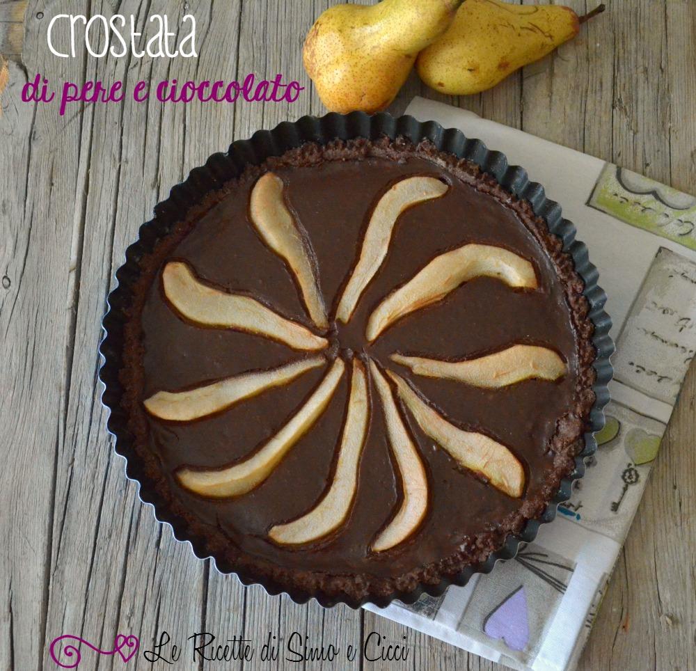 Crostata di pere e cioccolato