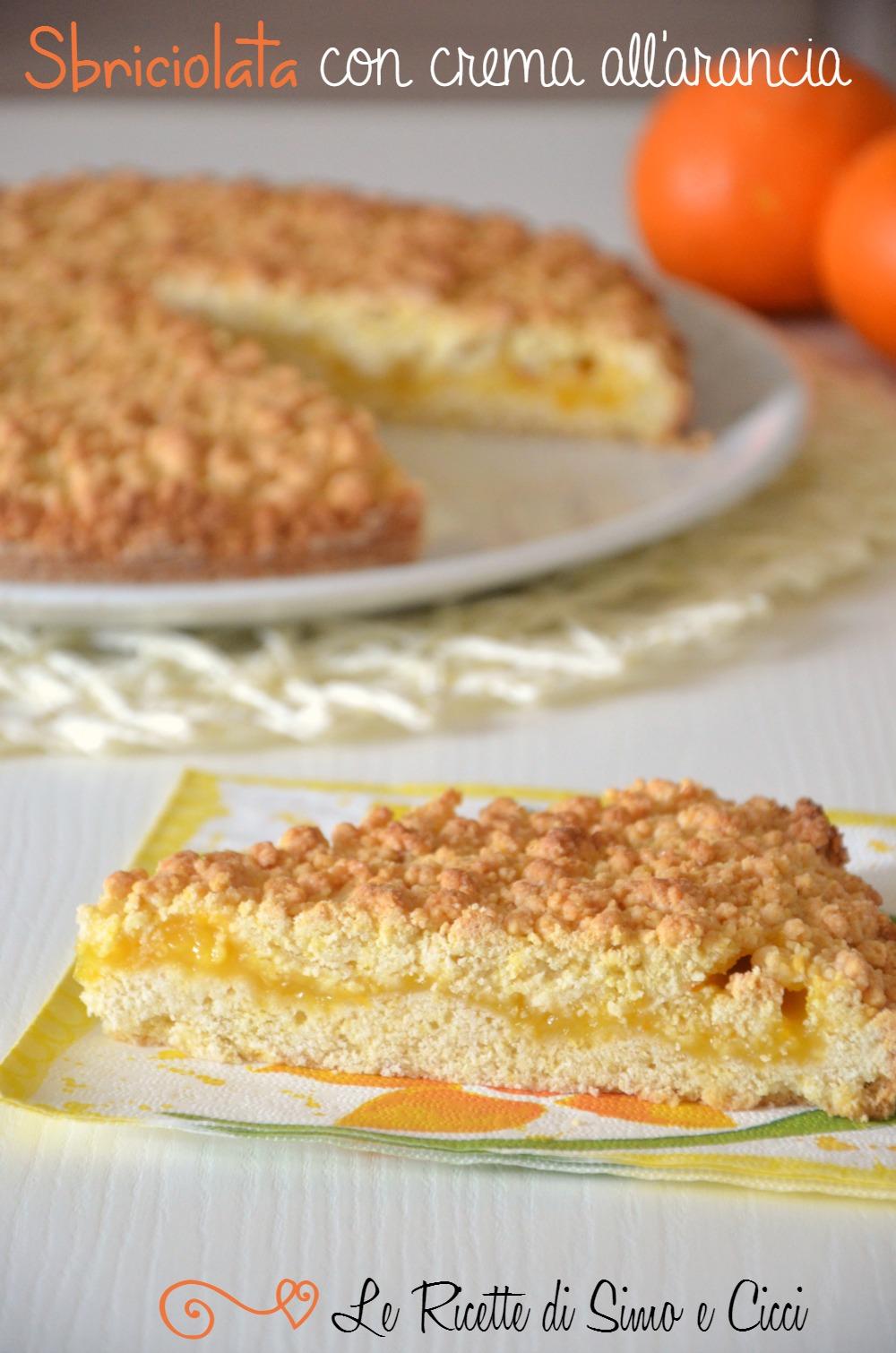 Sbriciolata con crema all'arancia