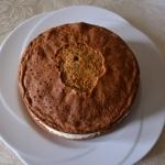 Torta alle nocciole con crema al mascarpone e arancia