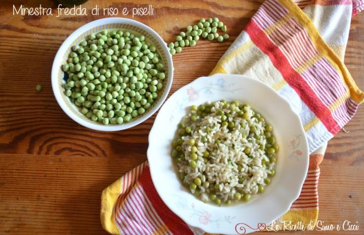 Minestra fredda di riso e piselli