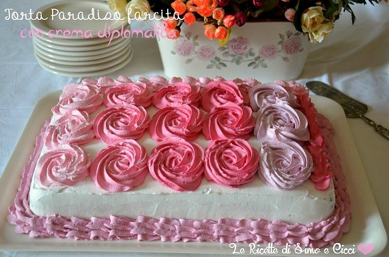 Torta Paradiso farcita con crema diplomatica