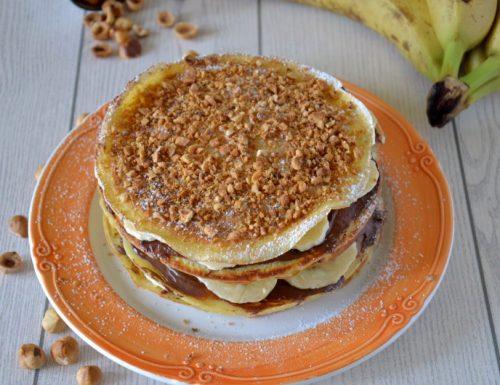 Crepes con banane e nutella