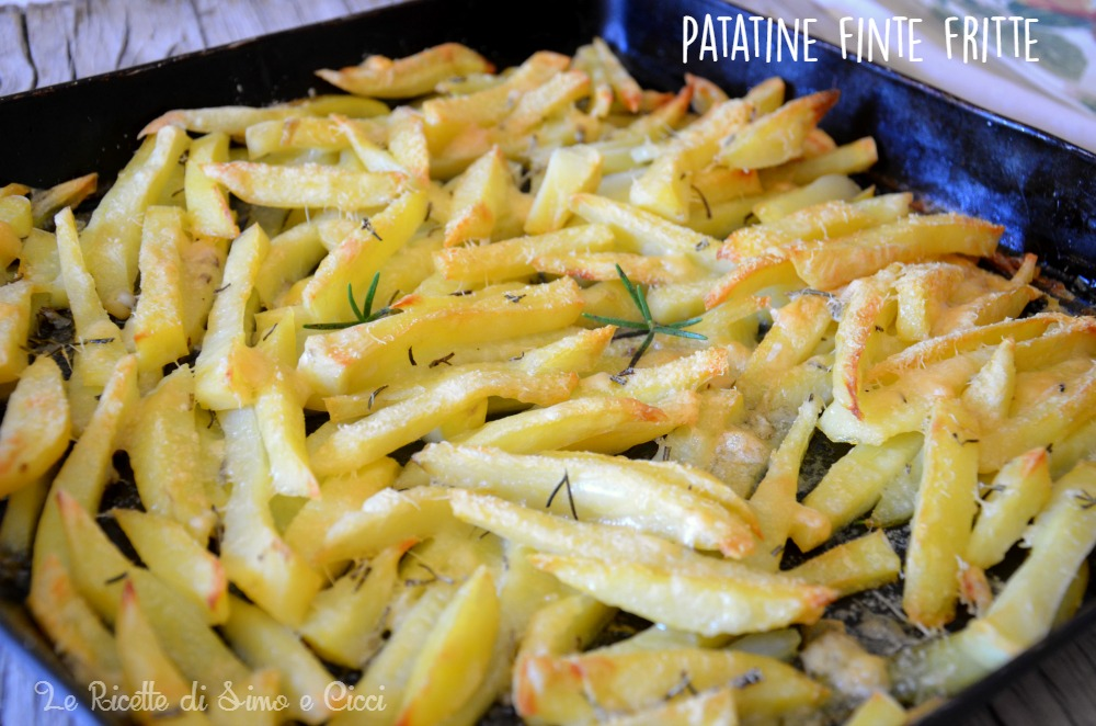 Patatine finte fritte