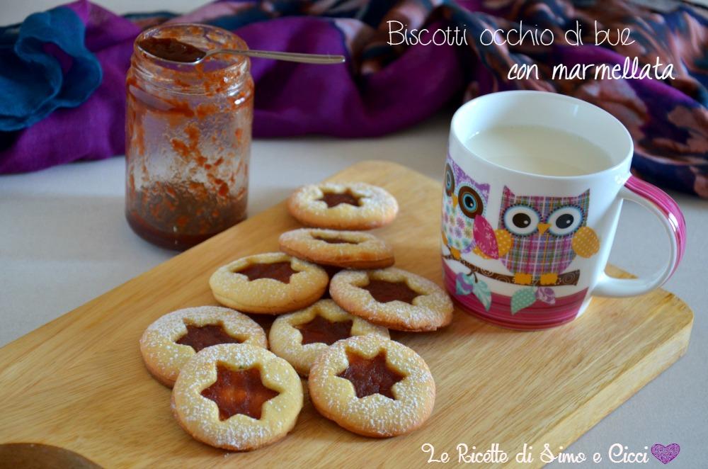 Biscotti occhio di bue con marmellata