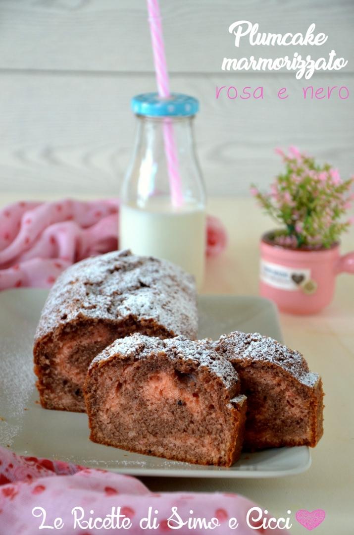 Plumcake marmorizzato rosa e nero