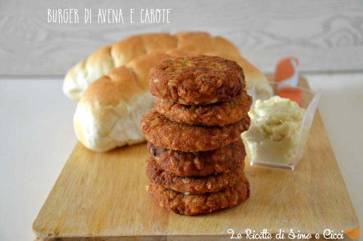Burger di avena e carote
