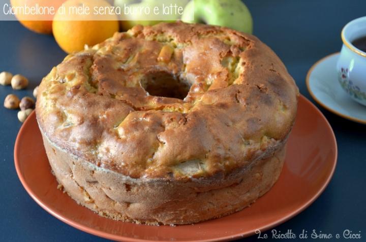 Ciambellone di mele senza burro e latte