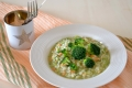 Risotto con broccoli e salmone affumicato