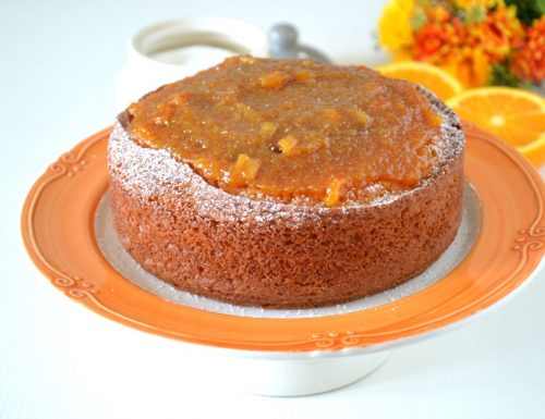 Torta con marmellata d'arancia
