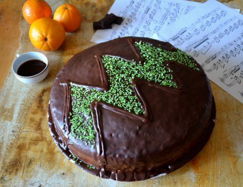 Torta simil fiesta all'arancia e cioccolato