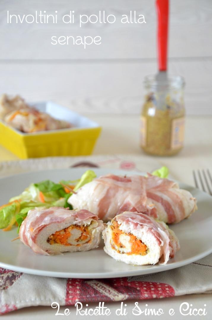 Involtini di pollo alla senape