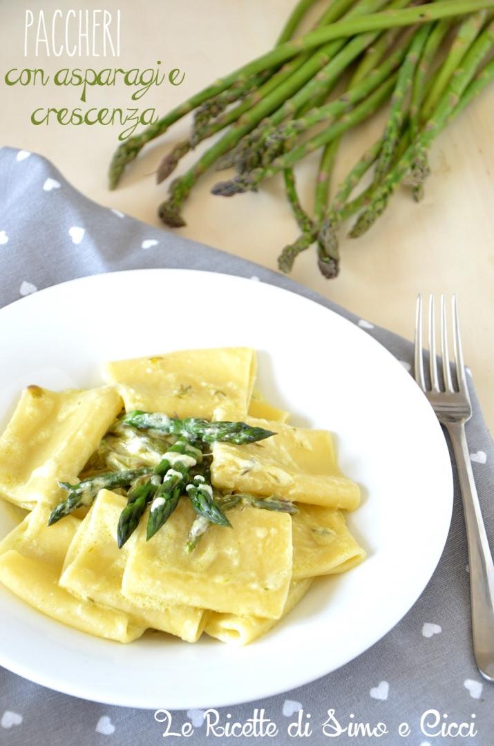 Paccheri con asparagi e crescenza - Le Ricette di Simo e Cicci
