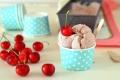 Gelato alle ciliegie senza gelatiera