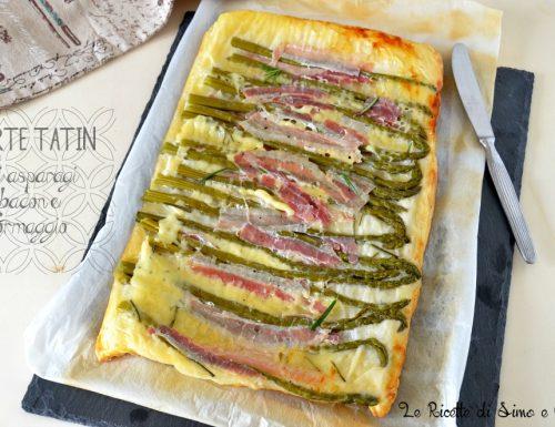 Tarte tatin di asparagi bacon e formaggio